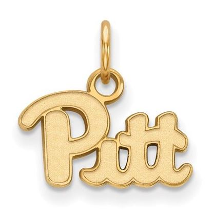 Picture of University of Pittsburgh Panthers Sterling Silver Gold Plated Extra Small Pendant
