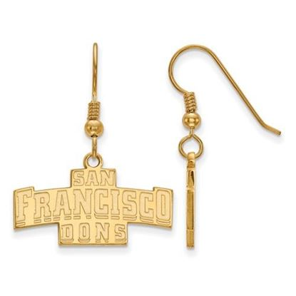 Picture of University of San Francisco Dons Sterling Silver Gold Plated Small Dangle Earrings