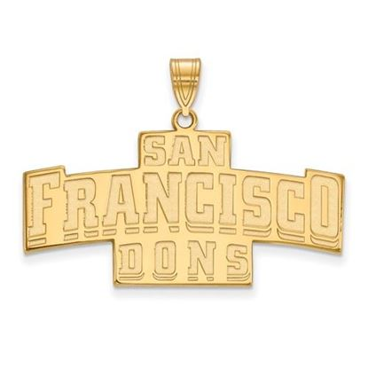 Picture of University of San Francisco Dons Sterling Silver Gold Plated Large Pendant