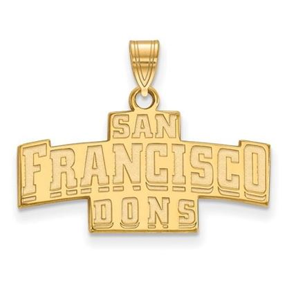 Picture of University of San Francisco Dons Sterling Silver Gold Plated Small Pendant