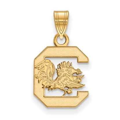 Picture of University of South Carolina Gamecocks Sterling Silver Gold Plated Small Pendant