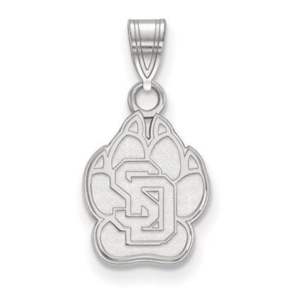 Picture of University of South Dakota Coyotes 10k White Gold Small Pendant