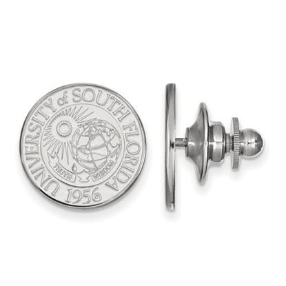 Picture of University of South Florida Bulls 14k White Gold Crest Lapel Pin
