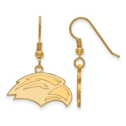 Picture of University of Southern Mississippi Golden Eagles Sterling Silver Gold Plated Small Dangle Earrings