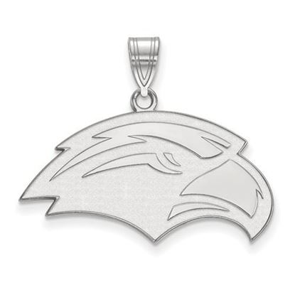 Picture of University of Southern Mississippi Golden Eagles 10k White Gold Medium Pendant