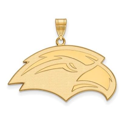 Picture of University of Southern Mississippi Golden Eagles Sterling Silver Gold Plated Large Pendant