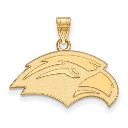 Picture of University of Southern Mississippi Golden Eagles Sterling Silver Gold Plated Small Pendant
