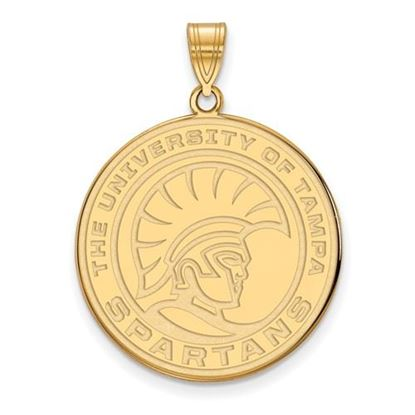Picture of University of Tampa Spartans Sterling Silver Gold Plated Extra Large Pendant