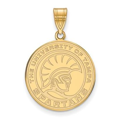 Picture of University of Tampa Spartans Sterling Silver Gold Plated Medium Pendant