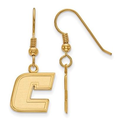 Picture of University of Tennessee at Chattanooga Mocs Sterling Silver Gold Plated Small Dangle Earrings