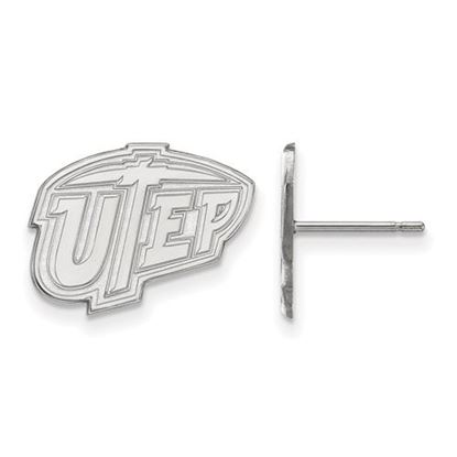 Picture of University of Texas at El Paso Miners 10k White Gold Small Post Earrings