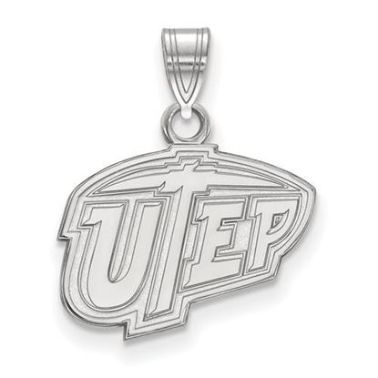 Picture of University of Texas at El Paso Miners 10k White Gold Small Pendant