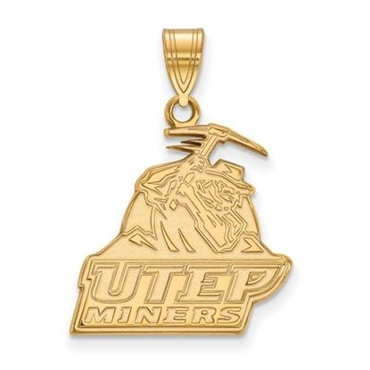 Picture of University of Texas at El Paso Miners 10k Yellow Gold Large Pendant