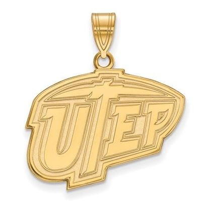 Picture of University of Texas at El Paso Miners Sterling Silver Gold Plated Large Pendant