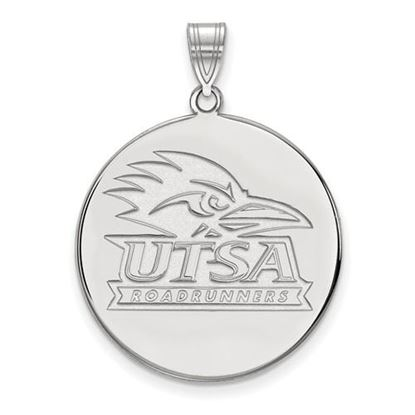 Picture of University of Texas at San Antonio Road Runners 14k White Gold Extra Large Disc Pendant
