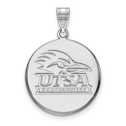 Picture of University of Texas at San Antonio Road Runners 14k White Gold Large Disc Pendant
