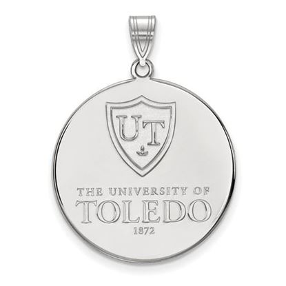 Picture of University of Toledo Rockets 10k White Gold Extra Large Disc Pendant