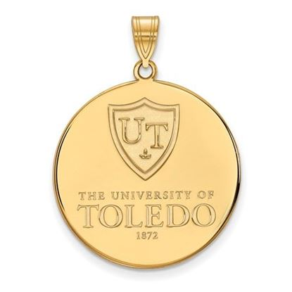 Picture of University of Toledo Rockets 10k Yellow Gold Extra Large Disc Pendant