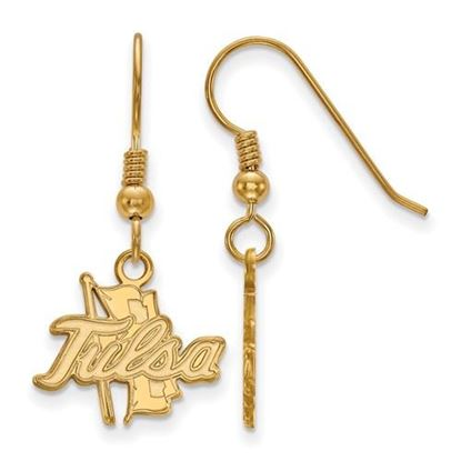 Picture of University of Tulsa Golden Hurricanes Sterling Silver Gold Plated Small Dangle Earrings