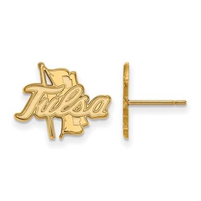 Picture of University of Tulsa Golden Hurricanes Sterling Silver Gold Plated Small Post Earrings