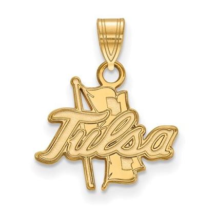 Picture of University of Tulsa Golden Hurricanes 10k Yellow Gold Small Pendant
