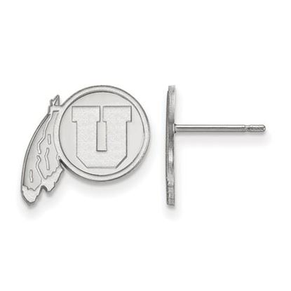 Picture of University of Utah Utes 14k White Gold Small Post Earrings
