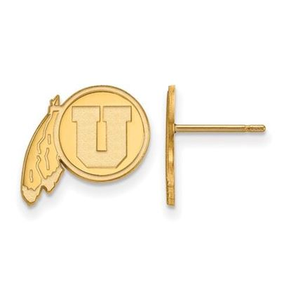 Picture of University of Utah Utes Sterling Silver Gold Plated Small Post Earrings