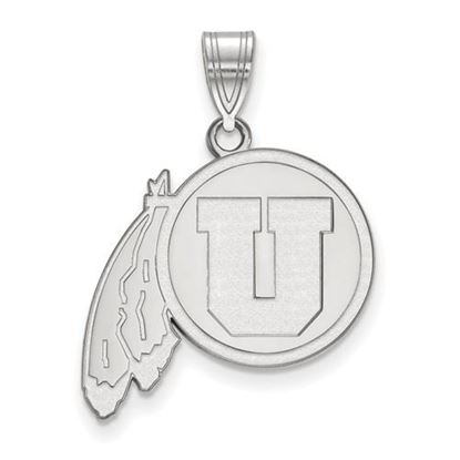 Picture of University of Utah Utes 10k White Gold Large Pendant