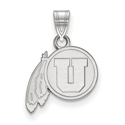Picture of University of Utah Utes 10k White Gold Small Pendant