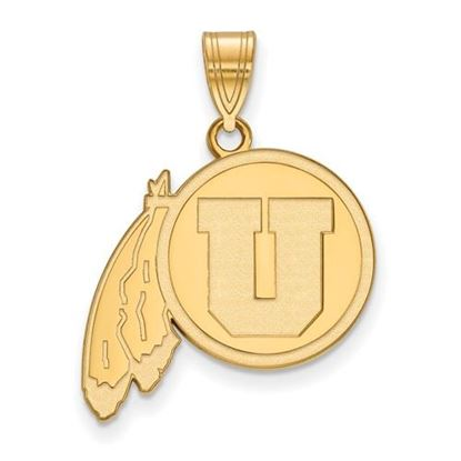 Picture of University of Utah Utes Sterling Silver Gold Plated Large Pendant