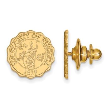 Picture of University of Virginia Cavaliers 14k Yellow Gold Crest Lapel Pin