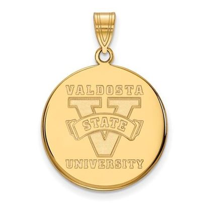 Picture of Valdosta State University Blazers Sterling Silver Gold Plated Large Disc Pendant
