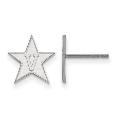 Picture of Vanderbilt University Commodores 14k White Gold Small Post Earrings