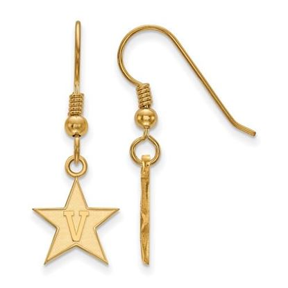 Picture of Vanderbilt University Commodores Sterling Silver Gold Plated Small Dangle Earrings