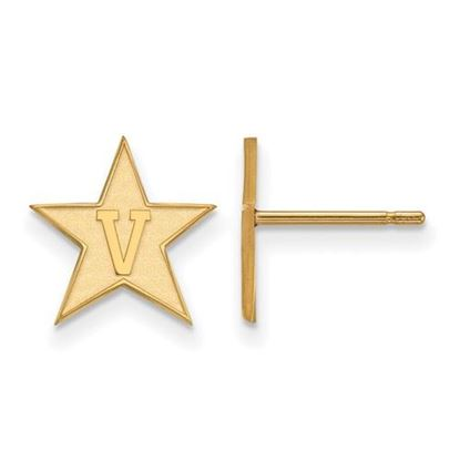 Picture of Vanderbilt University Commodores Sterling Silver Gold Plated Small Post Earrings