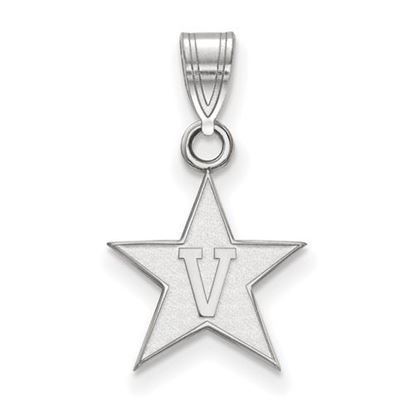 Picture of Vanderbilt University Commodores 10k White Gold Small Pendant