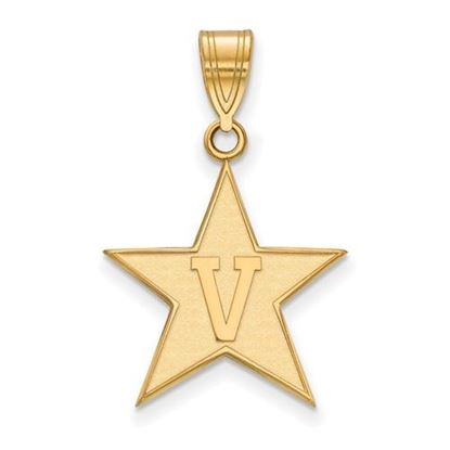 Picture of Vanderbilt University Commodores 10k Yellow Gold Large Pendant