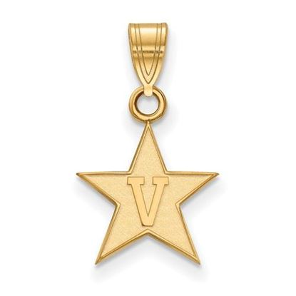 Picture of Vanderbilt University Commodores Sterling Silver Gold Plated Small Pendant