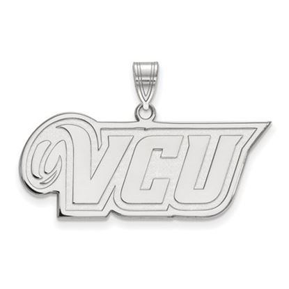 Picture of Virginia Commonwealth University Rams 10k White Gold Medium Pendant