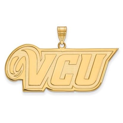 Picture of Virginia Commonwealth University Rams Sterling Silver Gold Plated Large Pendant