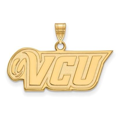 Picture of Virginia Commonwealth University Rams Sterling Silver Gold Plated Small Pendant
