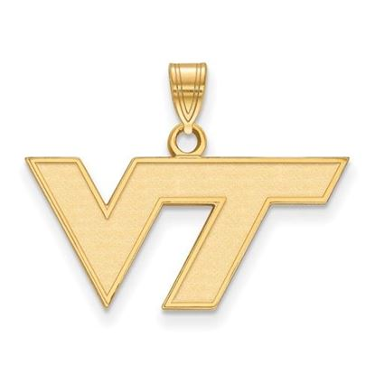Picture of Virginia Tech Hokies Sterling Silver Gold Plated Small Pendant