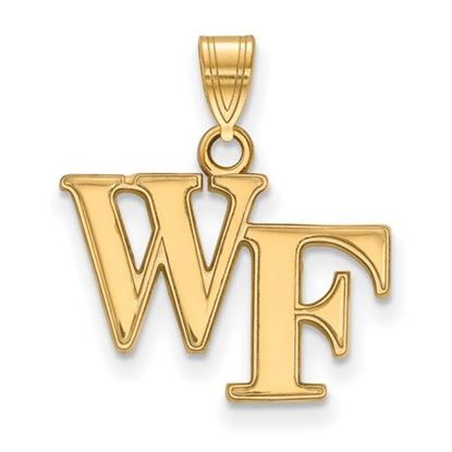 Picture of Wake Forest University Demon Deacons Sterling Silver Gold Plated Small Pendant