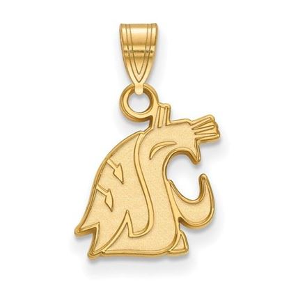 Picture of Washington State University Cougars Sterling Silver Gold Plated Small Pendant