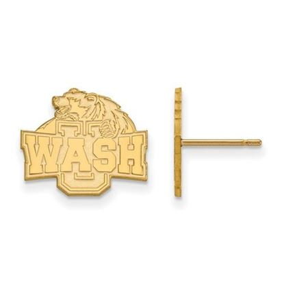 Picture of Washington University St. Louis Bears Bears Sterling Silver Gold Plated Small Post Earrings