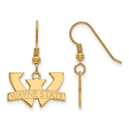Picture of Wayne State University Warriors Sterling Silver Gold Plated Small Dangle Earrings