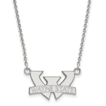 Picture of Wayne State University Warriors 10k White Gold Small Necklace