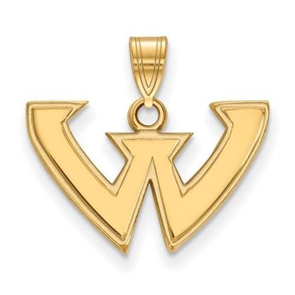 Picture of Wayne State University Warriors 10k Yellow Gold Small Pendant