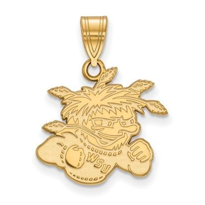 Picture of Wichita State University Shockers Sterling Silver Gold Plated Medium Pendant