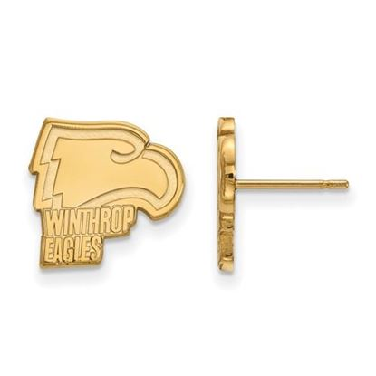 Picture of Winthrop University Eagles 10k Yellow Gold Small Post Earrings